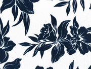 White Navy Floral